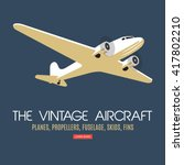 twin engine passenger plane.... | Shutterstock .eps vector #417802210