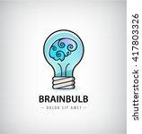 vector bulb with brain inside... | Shutterstock .eps vector #417803326