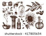 vector collection of hand drawn ... | Shutterstock .eps vector #417805654