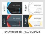 business card vector template.... | Shutterstock .eps vector #417808426