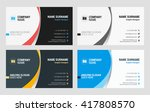 business card vector template.... | Shutterstock .eps vector #417808570
