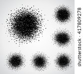 vector set of black spray paint ... | Shutterstock .eps vector #417809278