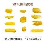 set of vector watercolor ink... | Shutterstock .eps vector #417810679