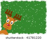 rudolph with a green background.... | Shutterstock .eps vector #41781220
