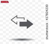 2 side arrow premium... | Shutterstock .eps vector #417824230