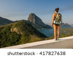 Girl Hiking In Leme Fort  View...