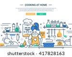 illustration of vector modern... | Shutterstock .eps vector #417828163