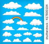 collection of vector clouds on... | Shutterstock .eps vector #417830104