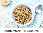lentils and rice with crispy... | Shutterstock . vector #417836698