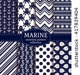 set of marine and nautical... | Shutterstock .eps vector #417839404