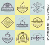 coffee logo collection.... | Shutterstock .eps vector #417839530