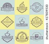 coffee logo collection.... | Shutterstock .eps vector #417839530