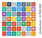 set of 49 universal icons.... | Shutterstock .eps vector #417841300