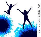 background of happy people | Shutterstock .eps vector #417841540