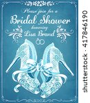 bridal shower invitation card... | Shutterstock .eps vector #417846190