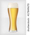 Realistic Beer Glass. Mug With...