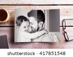 fathers day composition.... | Shutterstock . vector #417851548