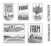 farm field labels set of vector ... | Shutterstock .eps vector #417858259