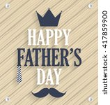 fathers day poster. wooden... | Shutterstock .eps vector #417859900