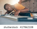contemporary young african... | Shutterstock . vector #417862108