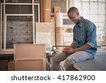 young african designer in his... | Shutterstock . vector #417862900