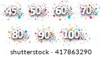 paper signs set with numbers... | Shutterstock .eps vector #417863290
