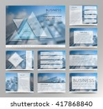 abstract vector backgrounds of... | Shutterstock .eps vector #417868840