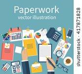 paperwork  vector. emotional... | Shutterstock .eps vector #417871828