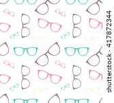 vector colorful glasses... | Shutterstock .eps vector #417872344