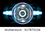 blue silver abstract hi speed... | Shutterstock .eps vector #417873136