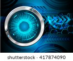 blue silver abstract hi speed... | Shutterstock .eps vector #417874090