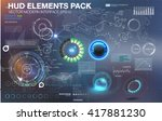 fantastic abstract background... | Shutterstock .eps vector #417881230
