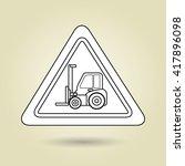 construction machinery design  | Shutterstock .eps vector #417896098