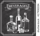 graphic of sketch beverages  ... | Shutterstock .eps vector #417900334