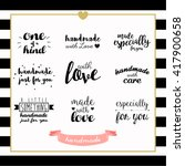 handmade with love typography... | Shutterstock .eps vector #417900658