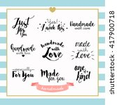 handmade with love typography... | Shutterstock .eps vector #417900718