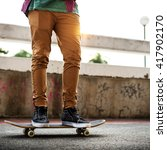 Small photo of Skateboard Extreme Sport Skater Park Recreational Activity Concept