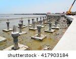 concrete steel pier... | Shutterstock . vector #417903184