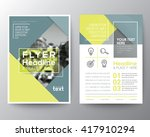 vector brochure flyer design... | Shutterstock .eps vector #417910294