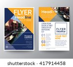 business brochure flyer design... | Shutterstock .eps vector #417914458