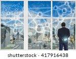 digital disruption concept... | Shutterstock . vector #417916438