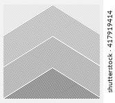 triangle logo. minimal geometry.... | Shutterstock .eps vector #417919414