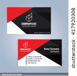 modern business card templates... | Shutterstock .eps vector #417920308