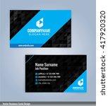 modern business card templates... | Shutterstock .eps vector #417920320