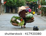 women selling flowers in the... | Shutterstock . vector #417920380