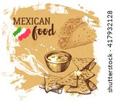 mexican traditional food... | Shutterstock .eps vector #417932128