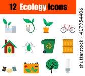 flat design ecology icon set in ...