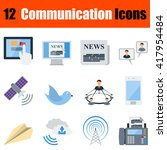 flat design communication icon...