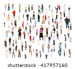 isolated groups many colleagues  | Shutterstock . vector #417957160