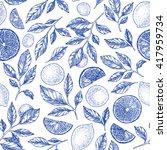 lemons background. linear... | Shutterstock .eps vector #417959734